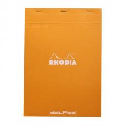 Cuaderno Rhodia con puntos - Tapa naranja A4