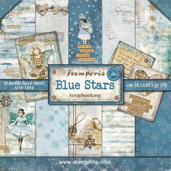 Blue Stars - Stampería Stack 12x12