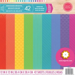 "Embossed Brights - Craft Smith Stack 12""x12"""