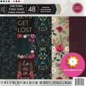 """Dark Floral - Craft Smith Stack 12""""x12"""""""