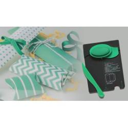 Pillow Box Punch Board Verde
