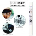 White 50cm x 110cm - Heyda TEXIPAP Washable Paper Fabric