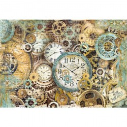 Clock Gears - Stamperia Papel de Arroz
