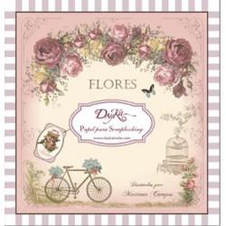 """Dayka SCP-1003 Block 24 hojas """"Flores"""""""
