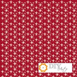 Tela roja con estrellas beige - El Altillo De Los Duendes