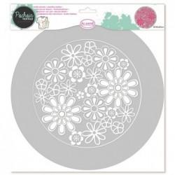 Flores - Plantilla para Textil 28 cm - Aladine