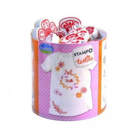 Set Stampo Textile - Flores y Coronas