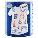 Set Stampo Textile - Navy