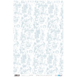 Toile de Jouy Azul - Papel Cartonaje Basics Papers For You
