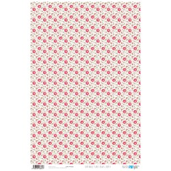 Flores Rojas Liberty - Papel Cartonaje Basics Papers For You