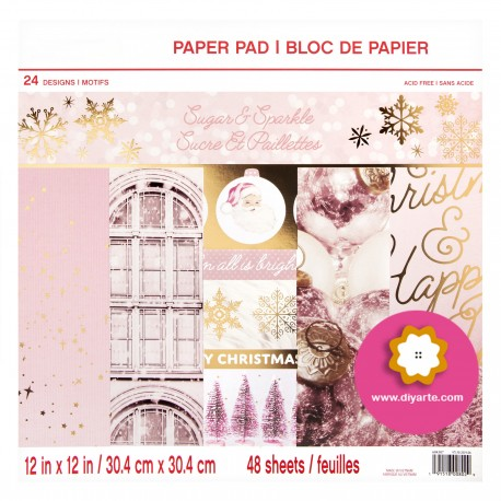 """Sugar & Sparkle - Recollections - Craft Smart - Craft Smith Stack 12""""x12"""""""