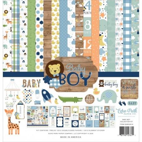 Kit Hello Baby Boy - Echo Park 12x12