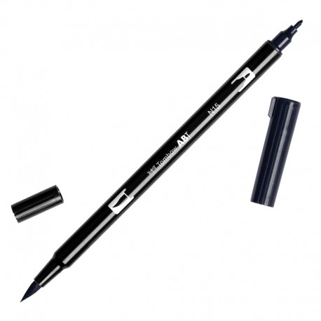N15 Black - Rotulador Tombow Dual Brush ABT