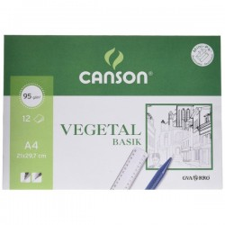 Papel Vegetal A4 - CANSON - Pack 12 Hojas