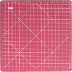 "Base de corte 12"" x 12"" Gris y Rosa - Artis Decor"