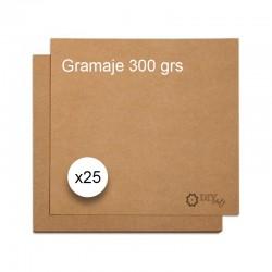 """Cartulina kraft 12""""x12"""" de 300 gr. - Pack 25 unidades"""