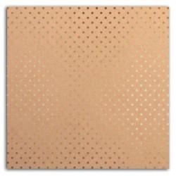 """Cartulina Kraft & Small Dots Gold Foil 12""""x12"""""""