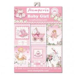 "Baby Girl - Stampería Stack Tarjetas 4,5"" x 6,5"""