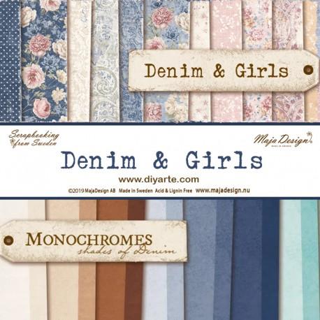 "Denim & Girls y Monochromes - Maja Design Stack 12""x12"""