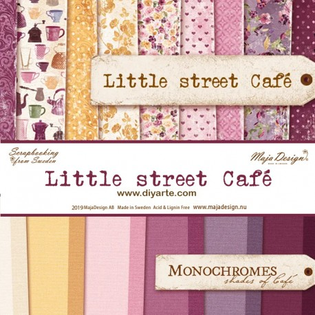 "Little Sstreet Café y Monochromes - Maja Design Stack 12""x12"""