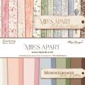 "Miles Apart y Monochromes - Maja Design Stack 12""x12"""