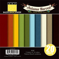 "Autumn Harvest de Margie Romney Aslett 6"" - Bazzill Basics"