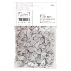 Ever After Wedding - Lazos Raso Gris - Capsule Papermanía Docrafts