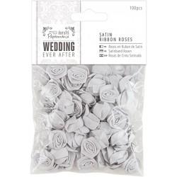 Ever After Wedding - Florecillas Raso Gris - Capsule Papermanía Docrafts