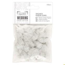 Ever After Wedding - Lazos Organza Plata - Capsule Papermanía Docrafts