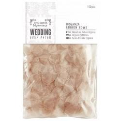 Ever After Wedding - Lazos Organza Oro Antiguo - Capsule Papermanía Docrafts