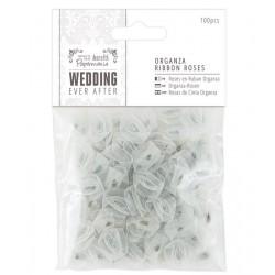 Ever After Wedding - Florecillas Organza Plata - Capsule Papermanía Docrafts
