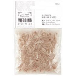 Ever After Wedding - Florecillas Organza Oro Antiguo - Capsule Papermanía Docrafts