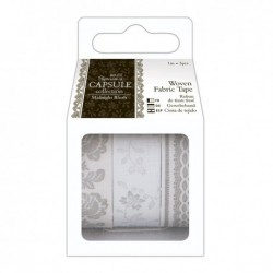 Ever After Wedding - Woven Fabric Tape Gris - Capsule Papermanía Docrafts
